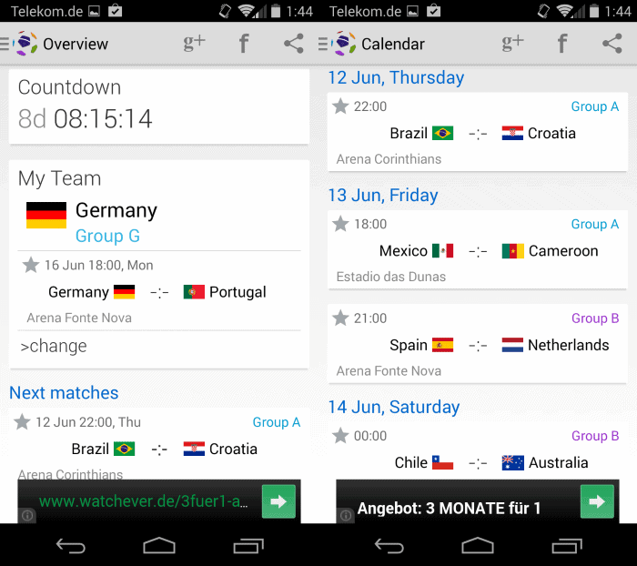 These Android apps keep you informed about the Football World Cup 2014 in Brazil