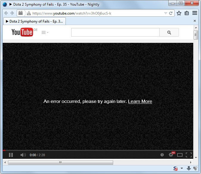 Fix An Error Occurred, Please Try Again Later on YouTube