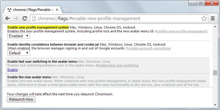 Lock your Google Chrome profile with your Google password