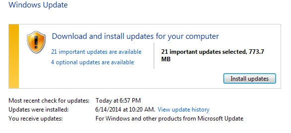 microsoft security updates july 2014