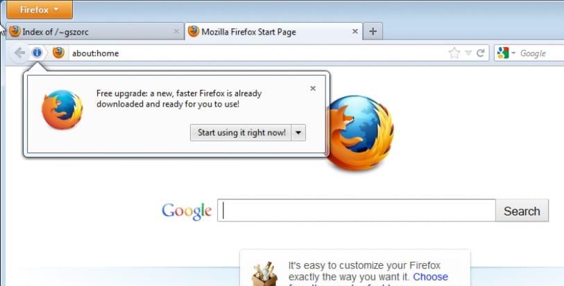 mozilla update hotfix