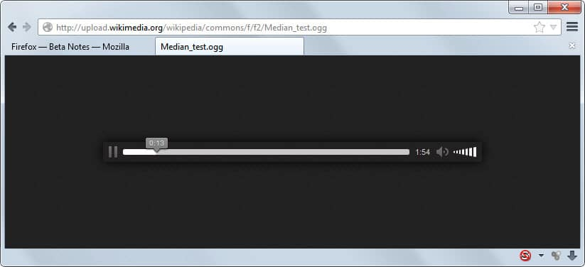 ogg file playback firefox