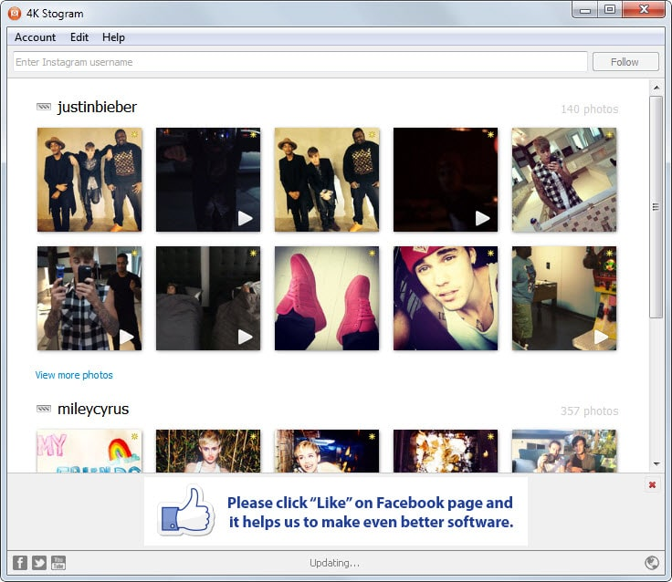 Download Instagram Photos and Videos to your PC - gHacks
