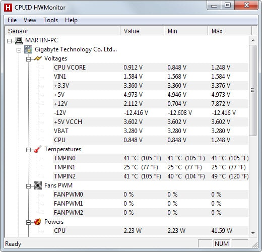 How to display the temperature of your PC's hardware