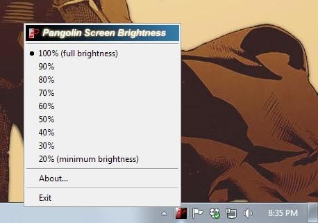 pangolin screen brightness