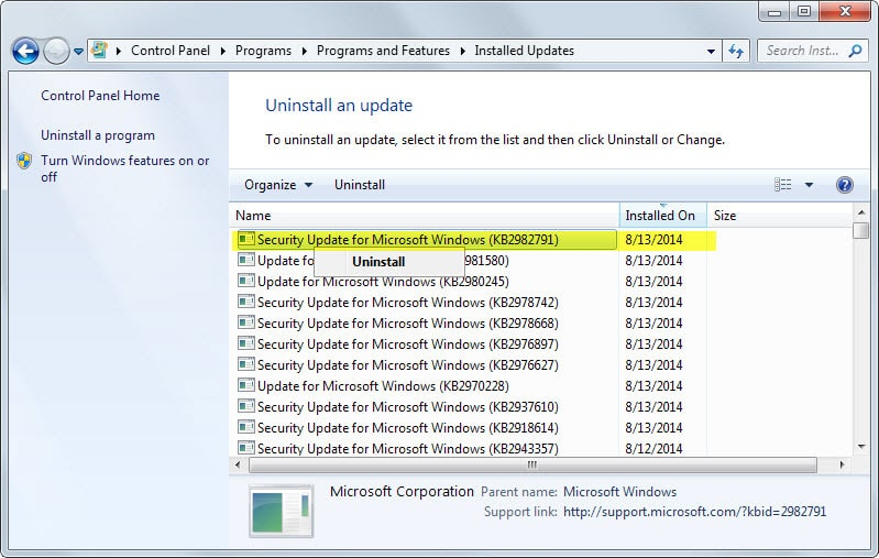How To Uninstall Windows Updates Ghacks Tech News