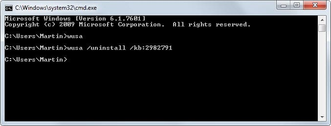 How to uninstall Windows Updates