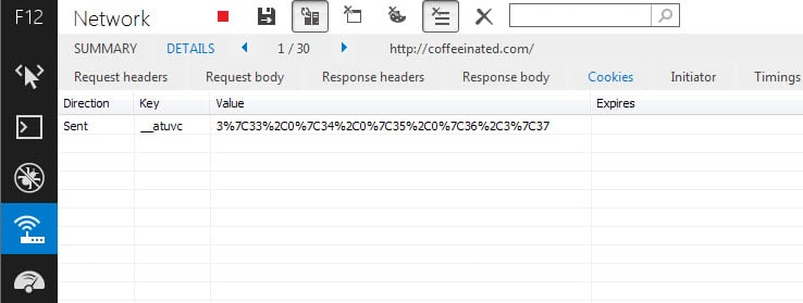 отображать файлы cookie