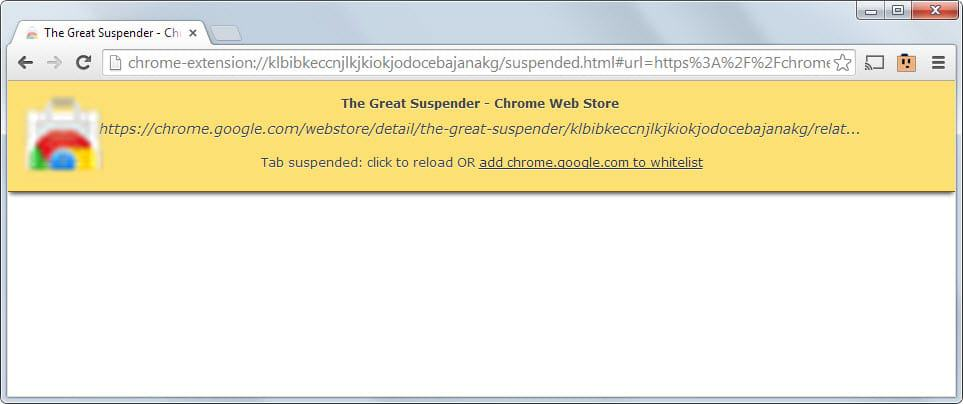 We no longer recommend the Chrome extension The Great Suspender. Here is why!