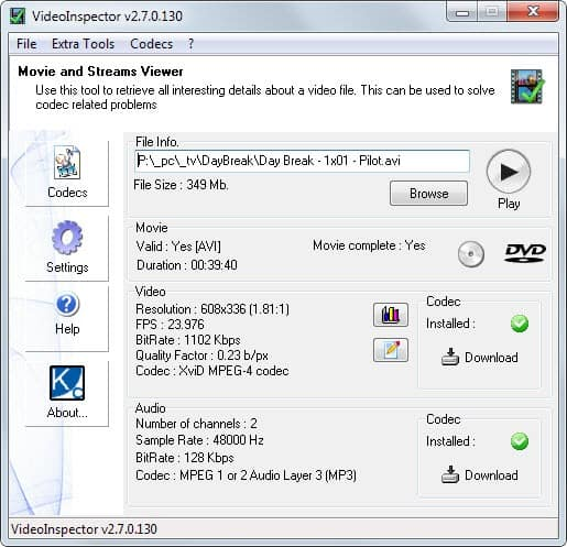 The best audio and video information programs for Windows