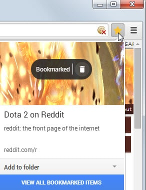 bookmark page chrome