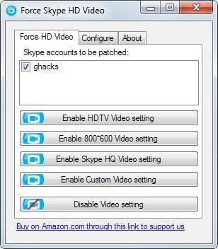force skype hd video