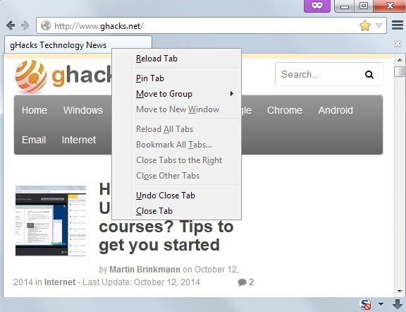 undo closed tabs private browsing