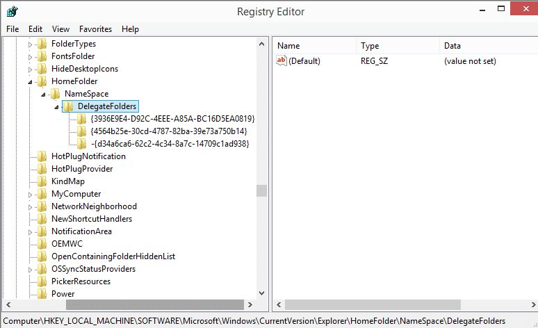 windows 10 home registry