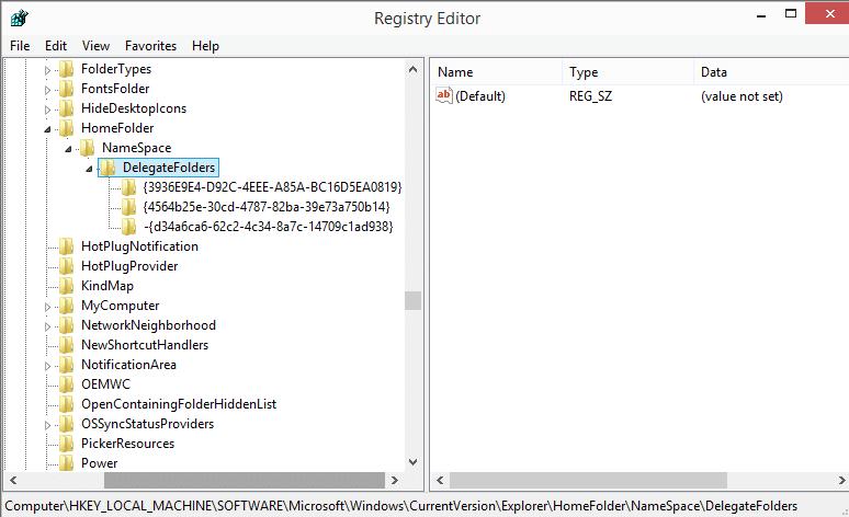 windows 10 home registry