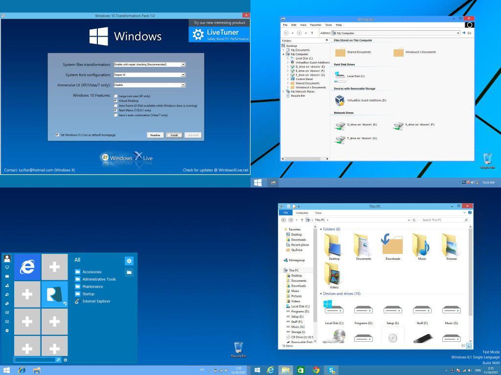 windows 10 transformation