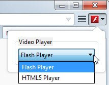 youtube flash player switch
