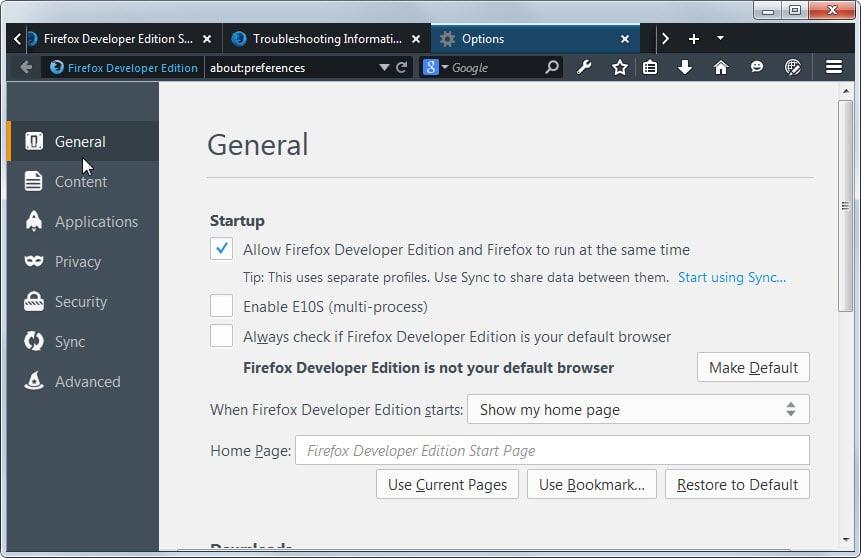allow-firefox-developer-edition-firefox-run