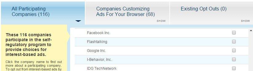 facebook interest based ads