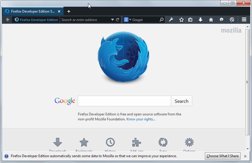 A first look at Firefox's new Developer Edition