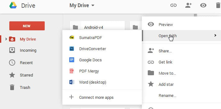 Google Chrome gets extension to open Google Drive files in PC and