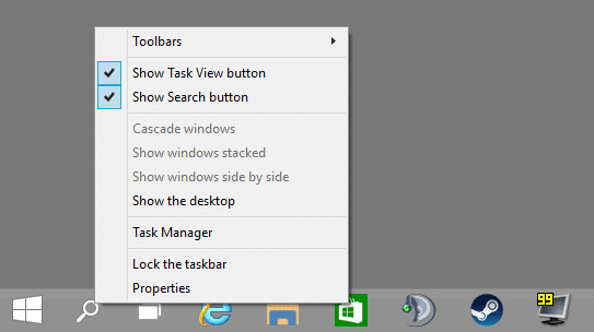 New Windows 10 build lets you hide Task View and Search button