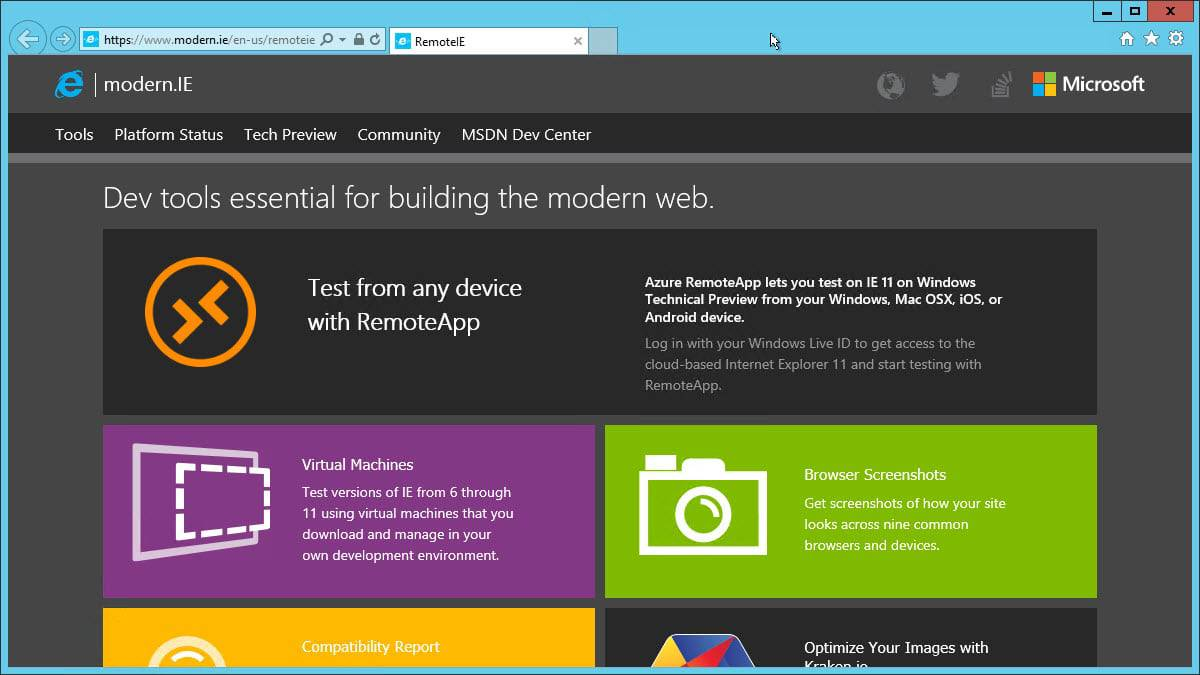 internet explorer preview