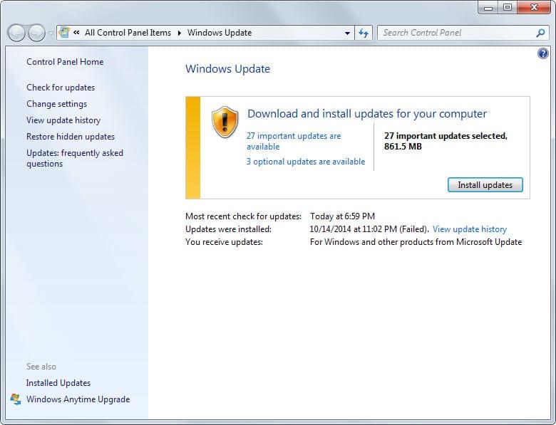 windows update november 2014