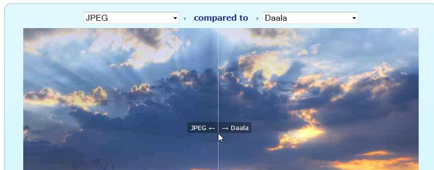 Check out the image quality of Mozilla's Daala codec right now