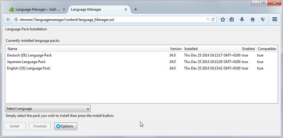 firefox language manager