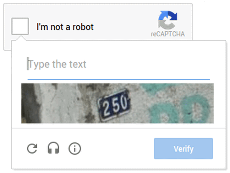 Google's reCAPTCHA improves the CAPTCHA verification process
