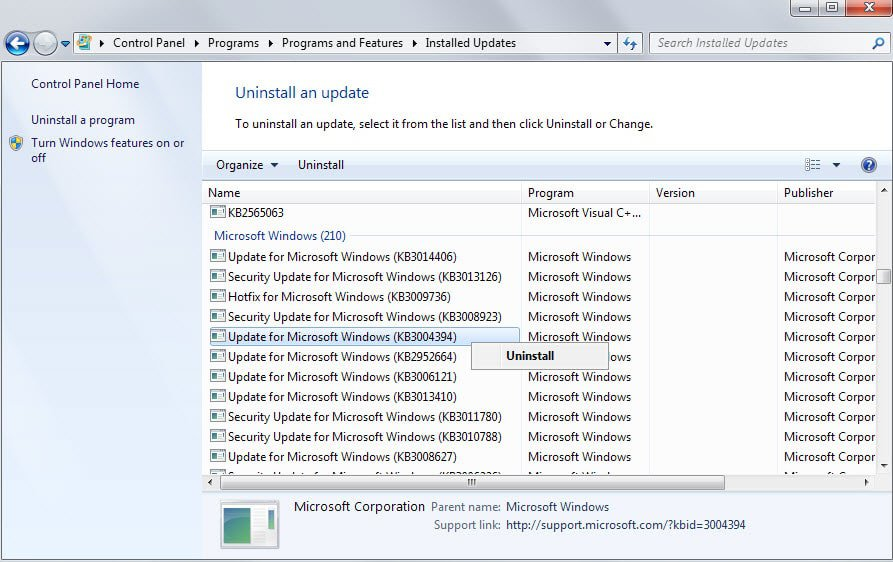How to delete installed and block Windows Updates