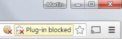 chrome plug-in blocked