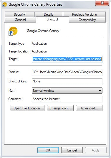 chrome restore session