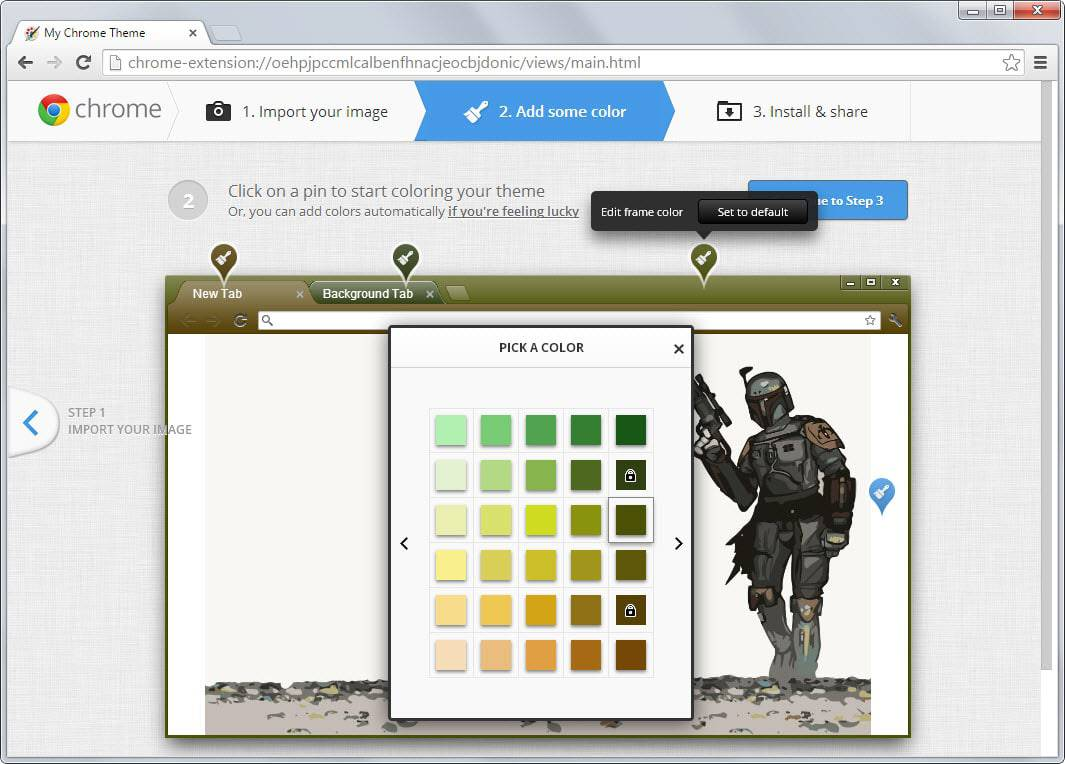 chrome theme color step 2