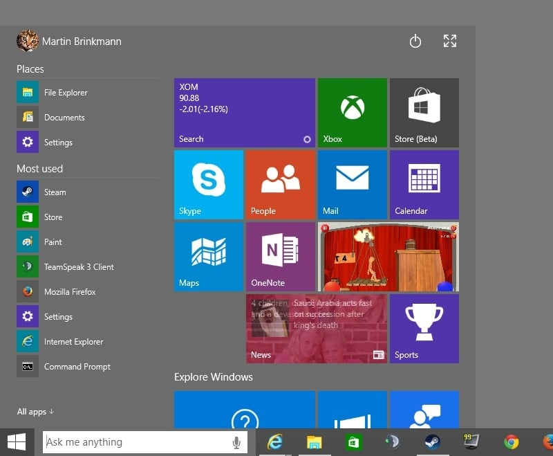 Latest Windows 10 Preview download available featuring Cortana and new apps