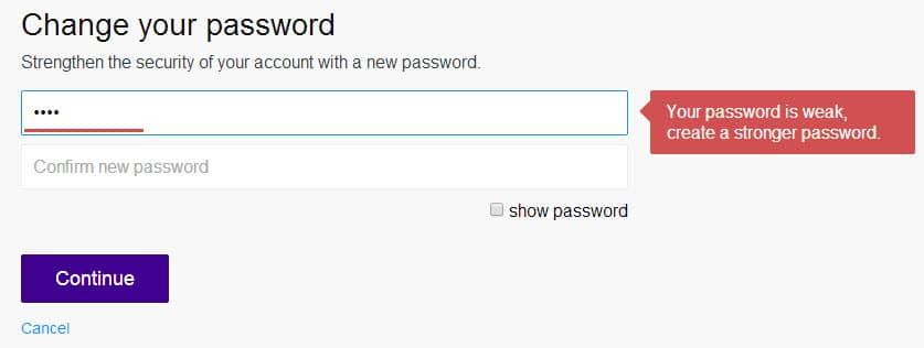 password strength