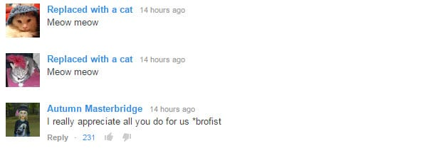 processed youtube comments