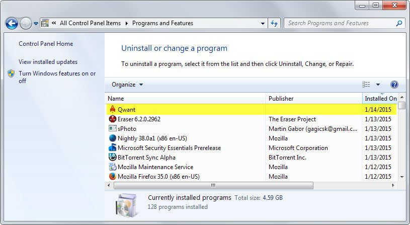remove firefox apps