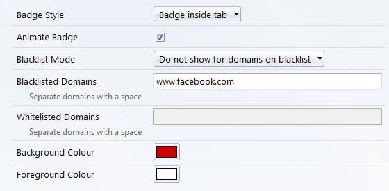 tab badge options