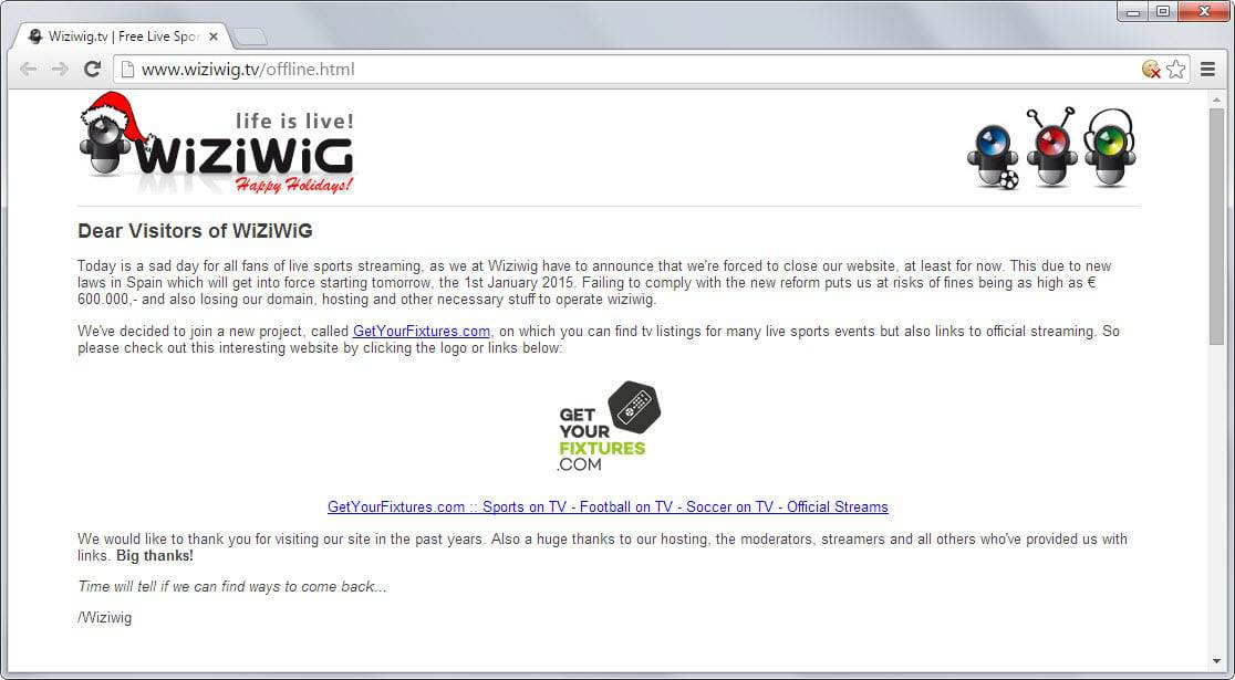 TV streaming website WiZiWiG shuts down: alternatives