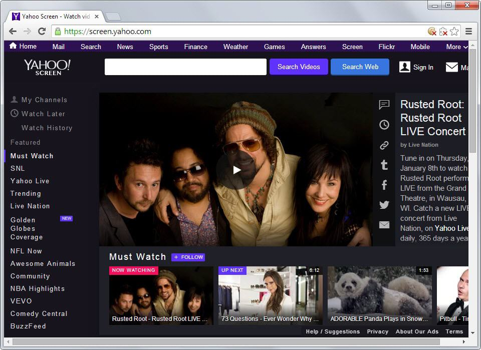 Can Yahoo Screen become a serious YouTube competitor?