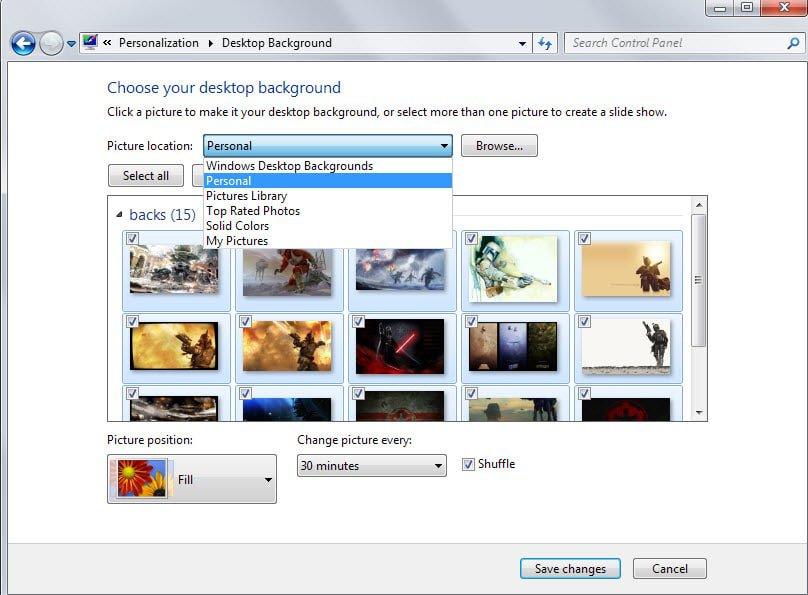 custom desktop background folders