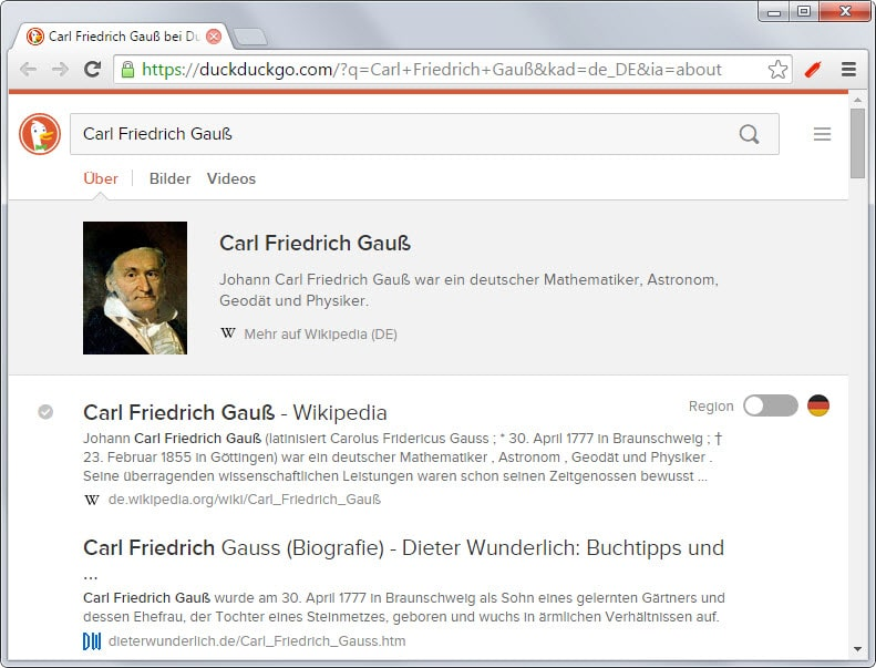 duckduckgo instant answers
