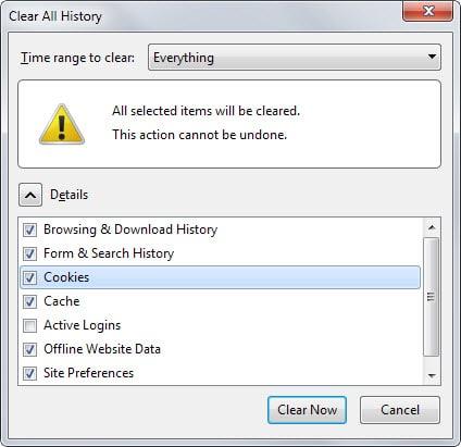 firefox delete local storage