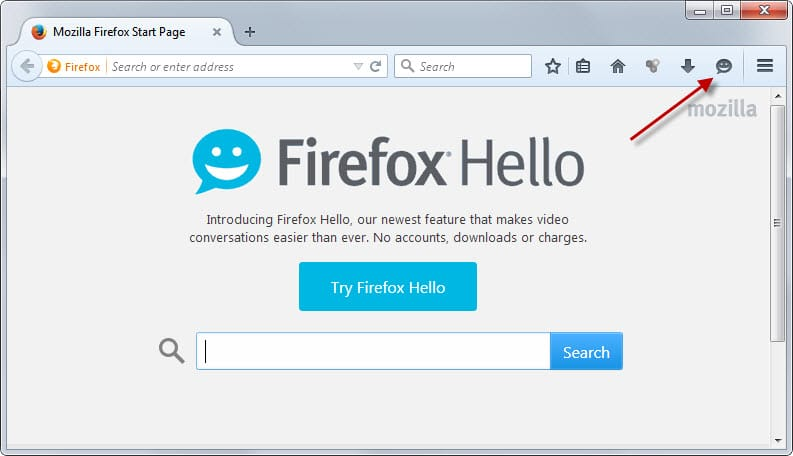 firefox hello button