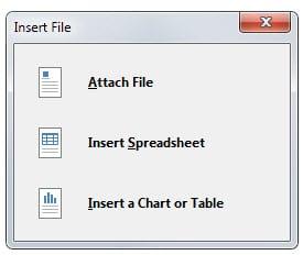insert file