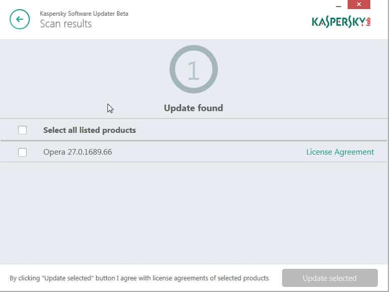 kaspersky software updater