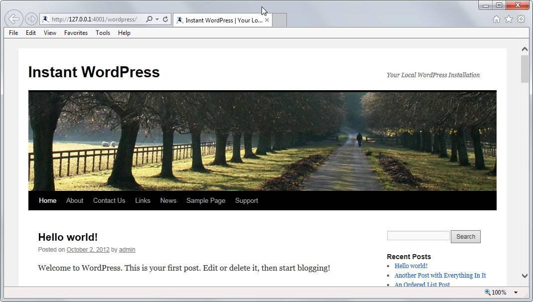 local wordpress