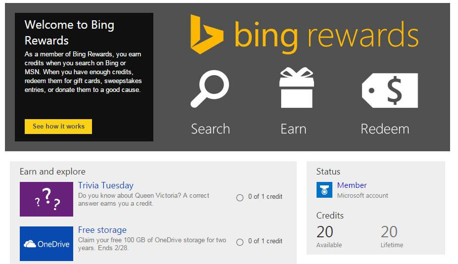 Get 100GB OneDrive space for 2 Years (Bing Rewards, US-only